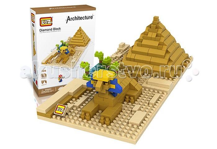 Конструктор Loz Архитектура Сфинкс и пирамида 330 деталейАрхитектура Сфинкс и пирамида 330 деталейКонструктор Сфинкс из серии Архитектура от компании Loz может понравиться детям, которые увлекаются не только конструированием, но еще и архитектурой и историей древнего Египта. Это интересный конструктор на 330 элементов – сложность сборки довольно высока, а детали конструктора небольшие, поэтому не стоит давать его маленьким детям. С ним справятся ребята, имеющие опыт в сборке подобных головоломок – и процесс надолго увлечет их. Готовая работа представляет собой гордого сфинкса, за спиной которого находится пирамида – знаменитое строение древних египтян. В качестве декора выступают элементы, изображающие деревья. Собранный конструктор может послужить игрушкой или оригинальным украшением детской комнаты.  Основные характеристики:   Размер упаковки: 20 x 14 x 5 см Вес: 0,21 кг<br>
