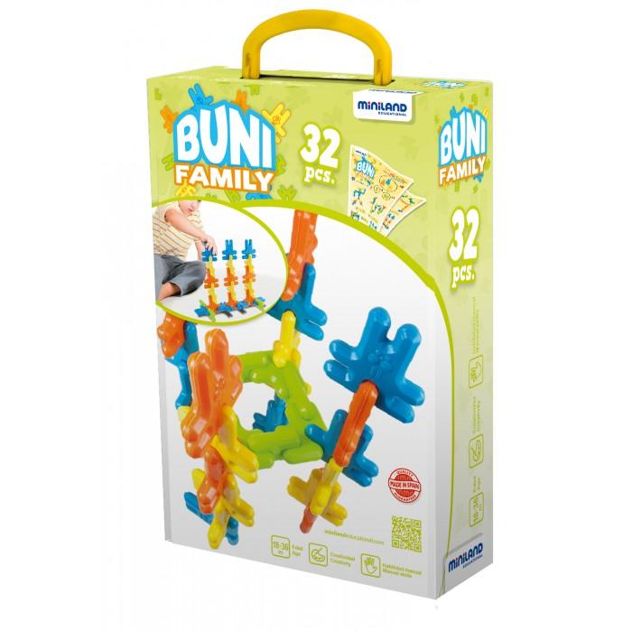 Конструктор Miniland Зайцы (32 детали)Зайцы (32 детали)Конструктор Miniland Зайцы (32 детали). Конструктор Кролики. Конструктор состоит из крупных гибких и округлых деталей в форме забавных кроликов в четырех основных цветах. Ребенок может как выполнять упражнения на карточках, повторяя последовательность цветов и соединений, так и придумывать комбинации самостоятельно. Способствует развитию пространственного мышления, навыков классификации и сортировки предметов по цветам и форме, формирует творческие способности ребенка, обеспечивая его увлеченность и сосредоточение внимания.   Состав: 32 детали конструктора размером 16 см, примеры сборки, дидактические инструкции.<br>