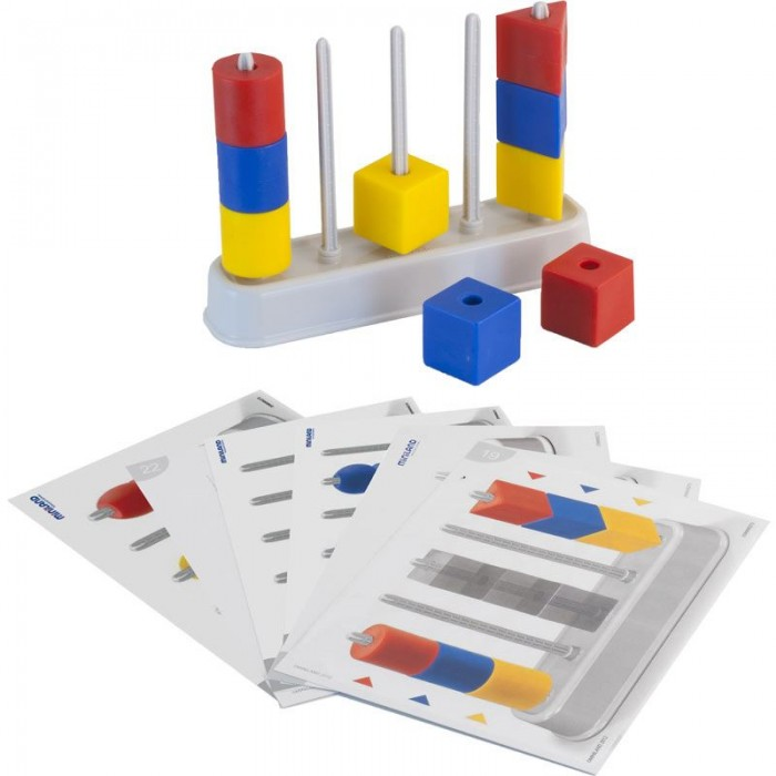 Развивающая игрушка Miniland Цветной счет с бусинамиЦветной счет с бусинамиРазвивающая игрушка Miniland Цветной счет с бусинами. Развивающий набор Abacolor Maxi. Набор состоит из крупных блоков-геометрических фигур разных цветов.   Игра направлена одновременно на физическое и интеллектуальное развитие малыша — способствует улучшению ловкости, внимания, логики. Ребенок учится согласованности движений, тренирует усидчивость, развивает абстрактное и пространственное мышление.  В комплект входят: 15 элементов, 20 карточек с заданиями разного уровня сложности.<br>