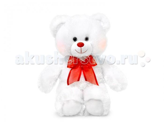 Мягкая игрушка Lava Мишка белый светящийся 29 см