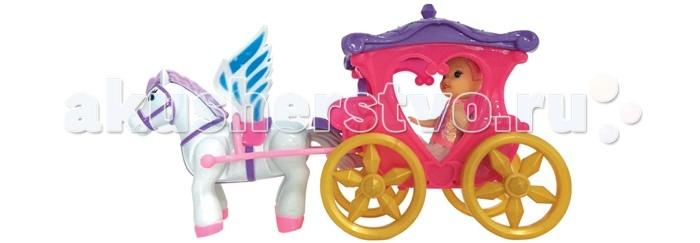 Girls Club Набор Карета для принцессы с лошадкой IT101331/GCНабор Карета для принцессы с лошадкой IT101331/GCКарета для принцессы с запряженной в нее волшебной крылатой лошадкой - пегасом станет одной из любимых игрушек девочки.   Маленькая куколка-принцесса очень любит путешествовать в своей очаровательной карете.   Входящие в комплект расчески и заколочки помогут сделать маленькой принцессе красивую прическу, перед тем как она отправится в поездку со своим верным спутником.<br>