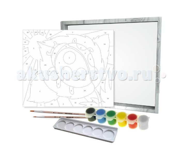 Азбука Тойз Раскраска по номерам Божья коровка PK-0005