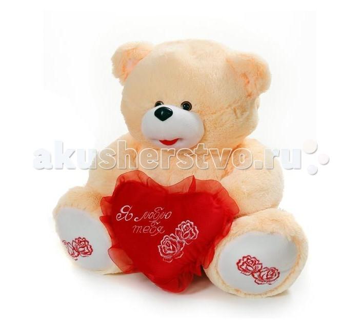 Мягкая игрушка Rudnix Медведь с сердцем 0068 60 смМедведь с сердцем 0068 60 смПлюшевая игрушка от бренда Рудникс представляет собой большого медведя. Мягкая игрушка выполнена из приятной на ощупь ткани, что в совокупности с наполнителем из качественного плюша создает приятные тактильные ощущения.  Пушистый мишка с вышитыми розами, бантом и сердечком розового цвета – это великолепный романтический подарок.  Высота игрушки достигает 60 см<br>