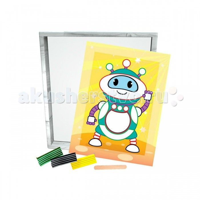 Азбука Тойз Раскраска пластилином Робот