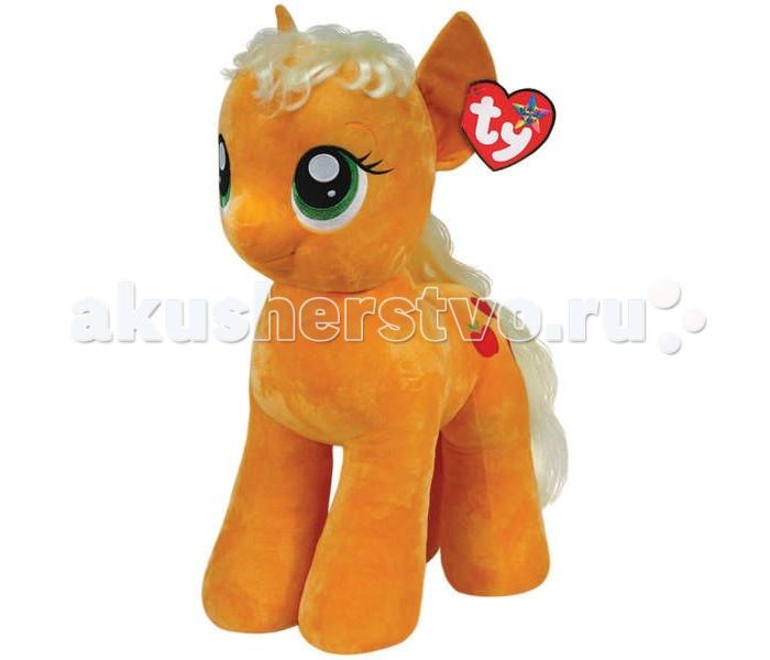 Мягкая игрушка My Little Pony Пони Apple Jack 76 cмПони Apple Jack 76 cмПони Apple Jack 76 cм - очаровательная мягкая игрушка из новой коллекции My little Pony. Ваш ребенок обязательно подружится с такой доброй и смелой пони.   Эпплджек из истории про маленьких пони — земная пони, у которой самый спокойный, уравновешенный и рассудительный характер. Она любит простой труд, живет на большой ферме и у нее много-много родственников.  Также Эпплджек известна как самая честная пони во всей Эквестрии, которая никогда и никому не лжет. Игрушка мягкая и приятная на ощупь, большие красивые глаза и знак отличия вышиты, грива выполнена из искусственных волос.  Пони Apple Jack 76 cм станет не просто игрушкой, но и милым дополнением к декору любой детской комнаты.  Из чего сделана игрушка (состав): ткань, пластик, искусственный мех, синтепон. Высота игрушки: 76 см. Вес: 3.5 кг.<br>