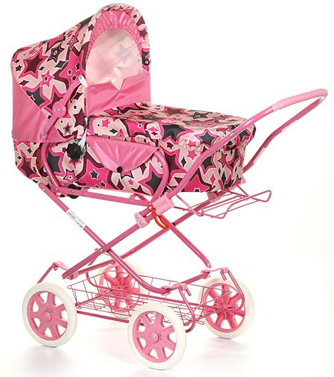 Коляска для куклы Wakart МартаМартаКоляска Марта очень похожа на настоящую детскую коляску, и это делает её любимым предметом для игры многих девочек.  Особенности:  Для детей от 3 лет. Трансформируется в прогулочную коляску. Резиновые колеса. Складывающийся капюшон. Материалы: металл, ткань, резина. Корзина для игрушек. Противоскользящий материал на ручке. Размер в сложенном виде: 32х63х36 см.  Внимание! Расцветки коляски могут отличаться от представленных на фото.<br>