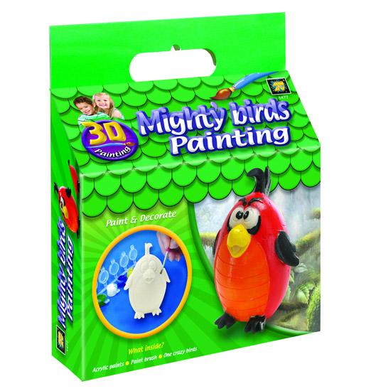 AMAV (Diamant) Набор Разрисуй попугая 3DНабор Разрисуй попугая 3DНабор для творчества Разрисуй попугая 3D AMAV (Diamant) 1477.  В Вашем доме растет маленький художник? Тогда стоит ему подарить набор для творчества Разрисуй попугая 3D. Одним взмахом кисточки малыш сможет создать яркий и неповторимый дизайн своей фигурки.   Благодаря набору Ваш ребенок научится пространственно мыслить, различать цвета, творчески решать поставленные задачи.   В набор входит:  1 гипсовая фигурка краски кисточка инструкция.<br>