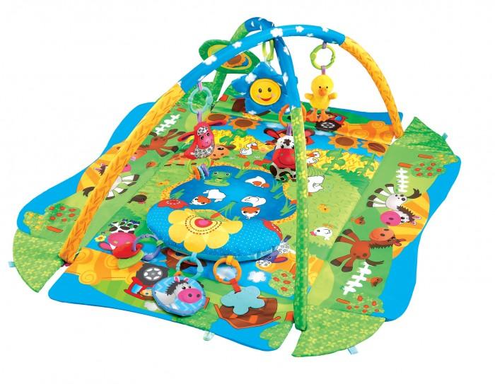 Развивающий коврик FitchBaby 3 Ways To Play 272903 Ways To Play 27290Fitch Baby Развивающий игровой коврик для новорожденного 3 Ways To Play 27290  На коврике ваш малыш откроет для себя мир, полный новых тактильных ощущений, сочных красок, ярких образов и звуков! Можно лежать на спине, ползать на животе, толкаться ногами, сидеть и развиваться в компании веселых друзей.  Две игровых дуги с мягкими съемными игрушками и безопасным зеркалом Для удобства малыша к коврику можно закрепить подушечку Бортики коврика можно поднять и закрепить для большего чувства безопасности  Размеры коврика 3 Ways To Play с закрепленными бортиками / в разложенном состоянии: Длина - 75 см / 105 см Ширина - 55 см / 91 см Высота игровой дуги - 52 см<br>