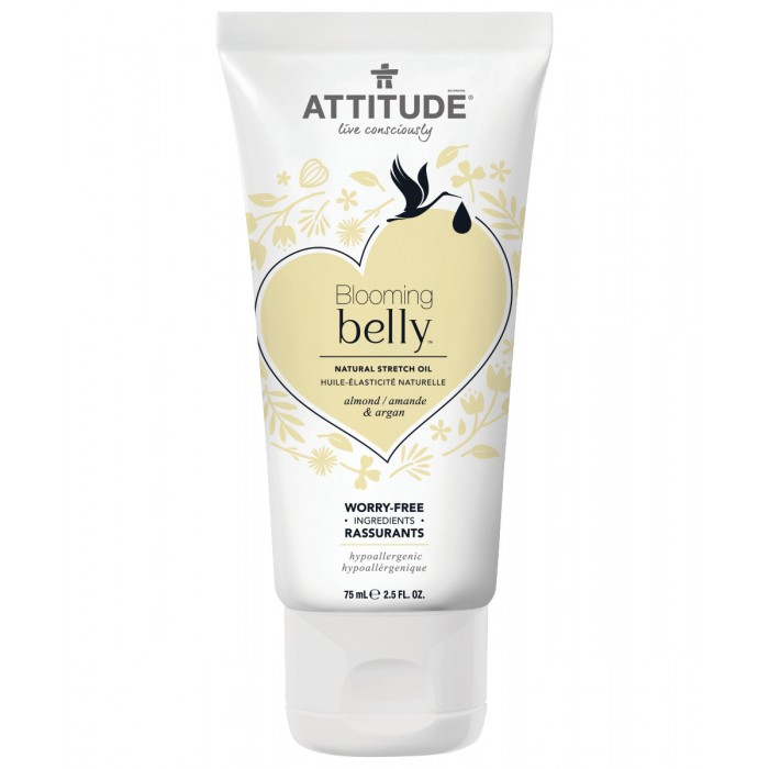 Attitude Натуральное масло против растяжек Blooming Belly - Миндаль и Аргановое масло 75 мл