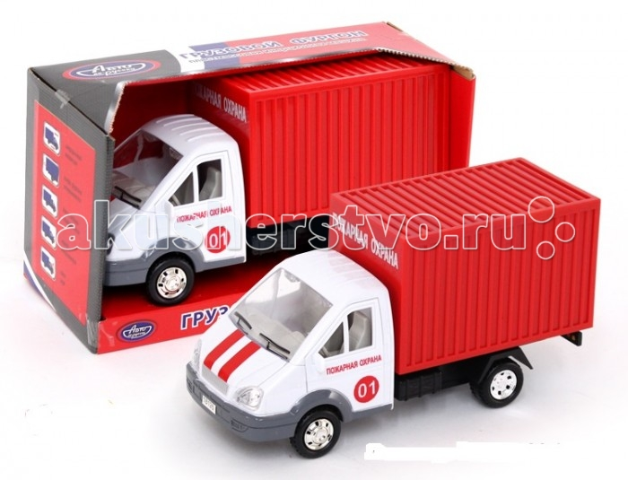 Авто по-русски Машина инерционная Грузовой фургон Пожарная охранаМашина инерционная Грузовой фургон Пожарная охранаАвто по-русски Машина инерционная Грузовой фургон Пожарная охрана - это уменьшенная копия автомобиля пожарной охраны. Ее кузов окрашен в ярко-красный цвет, а на дверцах кабины имеются опознавательные знаки, свидетельствующие о принадлежности машины к данной службе. Встроенный механизм инерции, открывающиеся дверцы, световой и звуковой модули, которыми оснащена модель - все это делают игру с ней гораздо интересней и вариативней.  Возраст: от 3 лет<br>