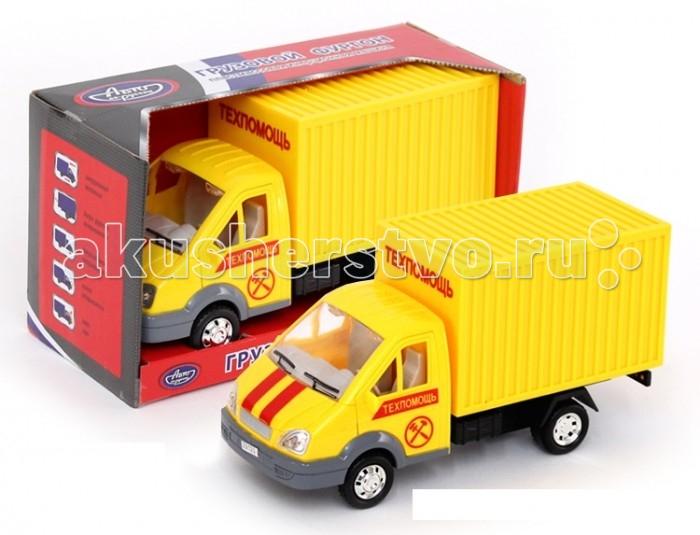 Авто по-русски Машина инерционная Грузовой фургон ТехпомощьМашина инерционная Грузовой фургон ТехпомощьАвто по-русски Машина инерционная Грузовой фургон Техпомощь - это уменьшенная копия автомобиля пожарной охраны. Ее кузов окрашен в ярко-красный цвет, а на дверцах кабины имеются опознавательные знаки, свидетельствующие о принадлежности машины к данной службе. Встроенный механизм инерции, открывающиеся дверцы, световой и звуковой модули, которыми оснащена модель - все это делают игру с ней гораздо интересней и вариативней.  Возраст: от 3 лет<br>