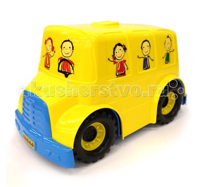Спектр Игрушка АвтобусИгрушка АвтобусИгрушка Автобус Спектр - это яркая игрушка без механизмов для детей малого возраста.   У машинки хорошо крутятся колеса, поэтому после разгона автобус может преодолевать длинные расстояния. Из окошек автобуса выглядывают веселые школьники, а крутит баранку руля - добрый водитель.   Размер и дизайн автобуса, его обтекаемые формы, отсутствие острых углов, делают игрушку привлекательной для малышей.<br>