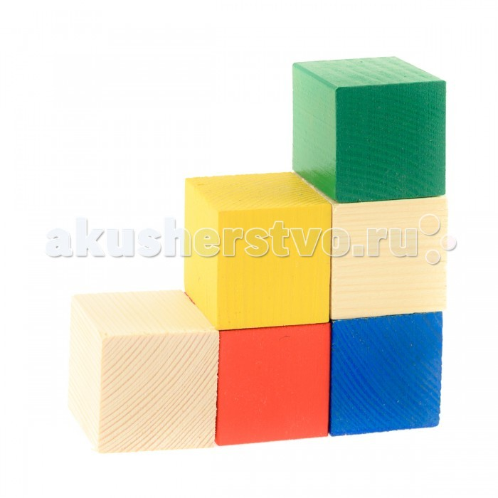 Деревянная игрушка Анданте Набор деревянных кубиков 6 шт.