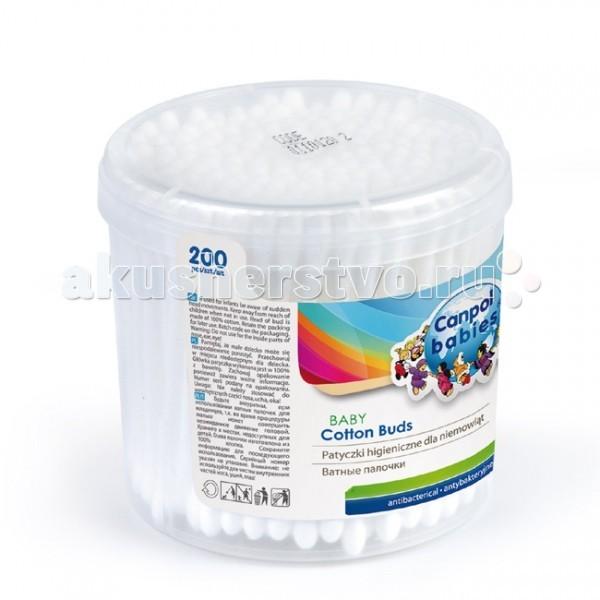 Canpol Гигиенические палочки в коробке 200 шт. 3/114Гигиенические палочки в коробке 200 шт. 3/114Ватные палочки для ухода в пластиковом боксе (200 шт.).  Особенности: Антибактериальные. Вата — 100% хлопок. Соответствует европейским экологическим стандартам СЕ.<br>