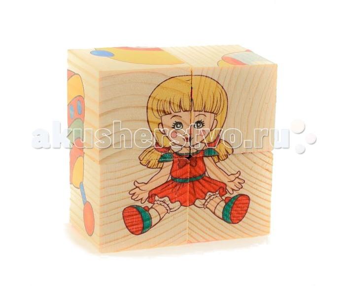 Деревянная игрушка Анданте Кубики-пазл Игрушки