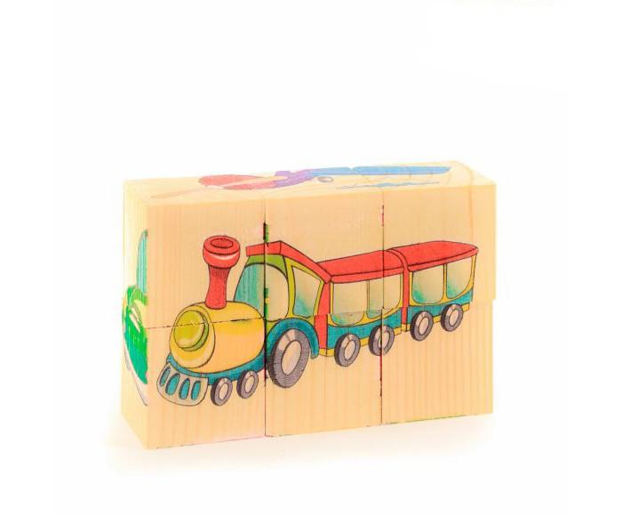 Деревянная игрушка Анданте Кубики-пазл Транспорт