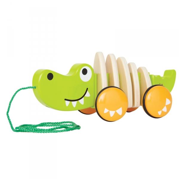Каталка-игрушка Hape Каталка Крокодил Е0348
