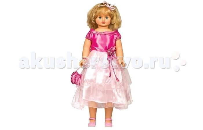 Весна Кукла Снежана 8 озвученная 83 смКукла Снежана 8 озвученная 83 смВесна Кукла Снежана 8 озвученная 83 см оснащена механизмом движения.   Особенности: Если ее вести за ручку, она шагает.  Шикарные волосы куклы качественно прошиты, поэтому вы сможете придумать своей новой куколке множество интересных причесок.  Одета Снежана в нарядное платьице, в котором можно появиться даже на королевском балу!  На ножках девочки туфельки в тон платью и сумочке. Образ выгодно дополняет лента в волосах. Куколка умеет произносить от 3 до 5 предложений.  Цвет одежды, волос и глаз куклы может отличаться от представленного на фото.<br>