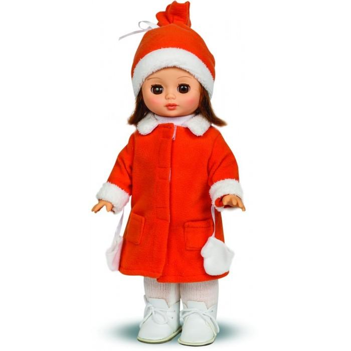 Весна Кукла Жанна 5 озвученная 34 смКукла Жанна 5 озвученная 34 смВесна Кукла Жанна 5 озвученная 34 см умеет произносить несколько фраз и предложений!  Особенности: Глаза куклы закрываются, если ее положить на спину.  Жанна одета в яркое пальто, к рукавам которого пришиты варежки на веревочках, чтобы она не их потеряла на прогулке, зимнюю шапочку, а также теплые колготки и ботинки.  У куклы прекрасные длинные волосы, которые можно расчесывать и придумывать разные прически.  Цвет одежды, волос и глаз куклы может отличаться от представленного на фото.<br>