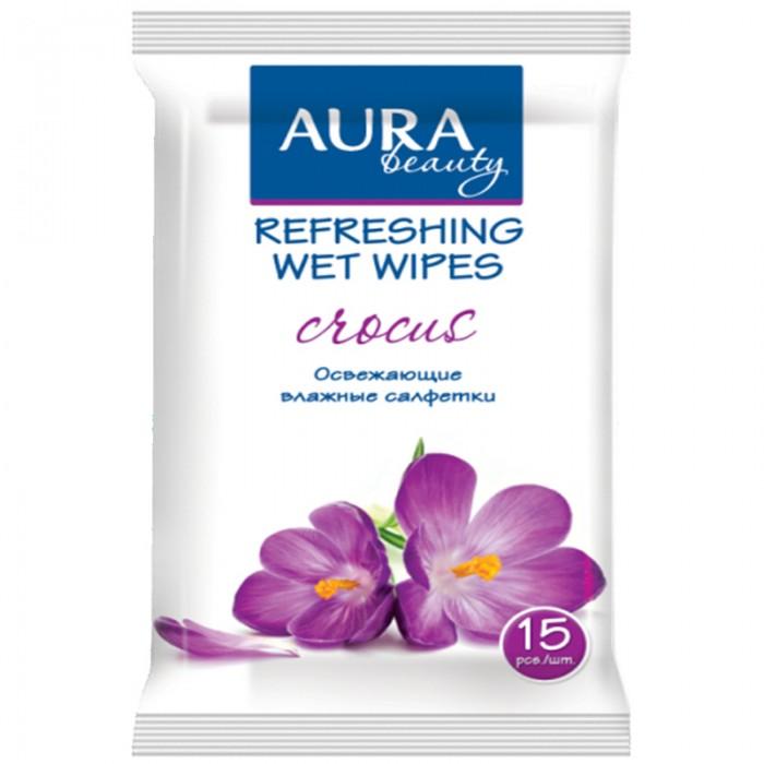 Aura Влажные салфетки Beauty освежающие 15 шт.