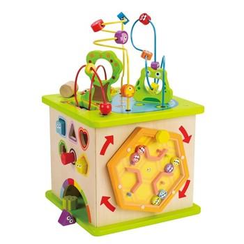 Деревянная игрушка Hape Большой активный куб Е1810