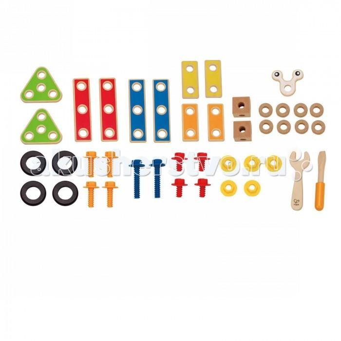 Деревянная игрушка Hape Конструктор Юный строитель Е3080