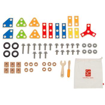 Деревянная игрушка Hape Конструктор Строитель Е3081