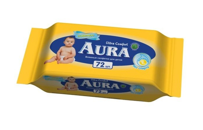 Aura Влажные салфетки Ultra Comfort 72 шт.