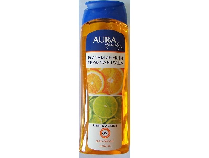 Aura Гель для душа Апельсин и Лайм витаминный 250 мл