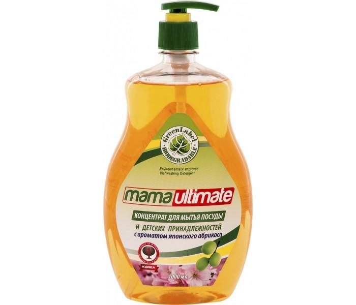 Mama Ultimate Бальзам для мытья посуды и детских принадлежностей Японский Абрикос 1000 мл