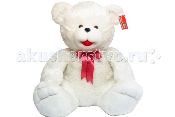 Мягкая игрушка Нижегородская игрушка Медведь большой 80 смМедведь большой 80 смМедведь большой с повязанным на шее бантиком непременно станет настоящим любимцем и другом малышу.   У медвежонка милая мордочка, толстое мягкое тельце и подвижные лапки. Он изготовлен из высококачественного, гипоаллергенного искусственного меха и синтетического наполнителя, которые безопасны для здоровья ребенка.   Мягкого и пушистого медвежонка приятно держать в руках, гладить и разговаривать, доверяя ему свои секретики.  Игра с ним способствует формированию у ребенка новых навыков, развивает тактильные ощущения и фантазию.<br>