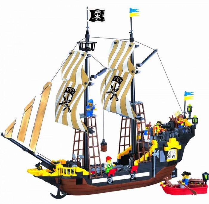 Конструктор Enlighten Brick № 307 Пиратский корабль Brick 590 деталей№ 307 Пиратский корабль Brick 590 деталей№ 307 Пиратский корабль 590 деталей Brick Enlighten Brick  Яркий пластиковый конструктор привлечет внимание Вашего ребенка и не позволит ему скучать. Конструктор позволяет ребёнку почувствовать себя взрослым, потому что малыш своими руками создаёт новые чудесные вещи.  Ребенок сможет часами играть с этим конструктором, придумывая разные истории и комбинируя детали. Собирая конструктор, ребенок развивает воображение, мелкую моторику рук, пространственное и логическое мышление.<br>