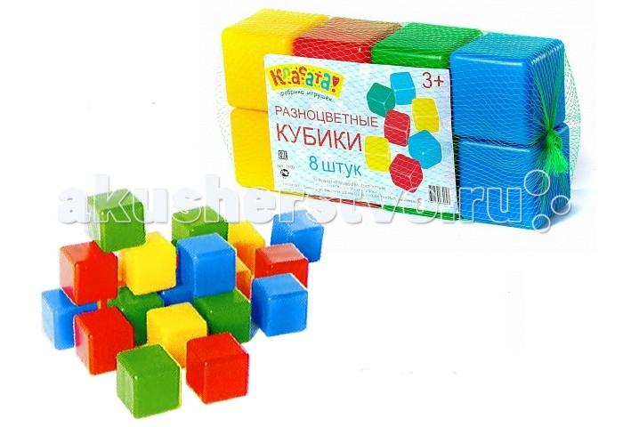Развивающая игрушка Класата Набор  Кубиков  8 шт.Набор  Кубиков  8 шт.Набор разноцветных кубиков Класата! поможет вашему ребенку развиваться, узнавая формы, цвета и составляя различные фигурки из составных элемента набора.  Кубики изготовлены из качественного пластика, окрашенного безвредными красителями: в наборе есть красные, желтые, зеленые и синие элементы. Крупные кубики легкие по весу, поэтому ребенку не составит труда перекладывать их с места не место.<br>