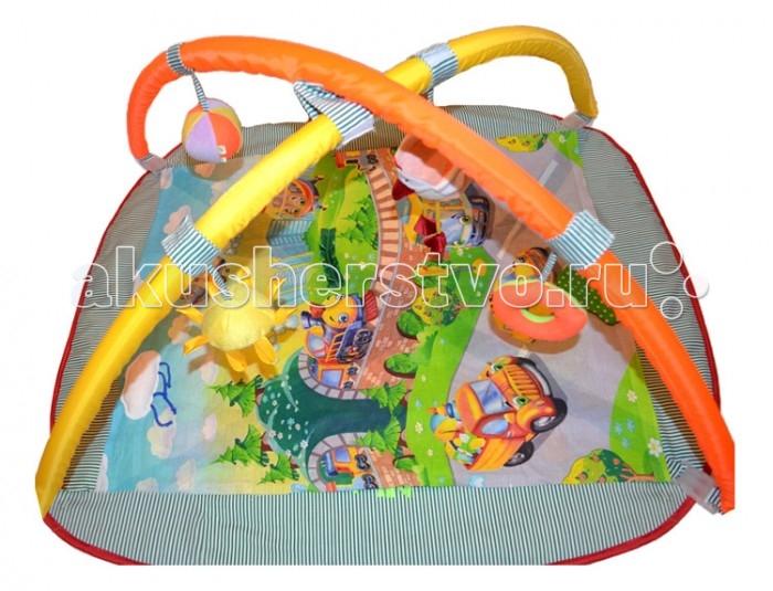 Развивающий коврик Дельфин с дугами Веселый паркс дугами Веселый паркРазвивающий Коврик с дугами Веселый парк понадобиться малышу практически с рождения. В коврике малыш будет и отдыхать, и играть. На дугах, пристегивающихся к коврику, подвешены яркие и забавные игрушки, которые малыш будет с удовольствием изучать. По мере необходимости на дуги можно прикрепить любые другие игрушки- подвески.  Размер коврика: 100х85 см<br>
