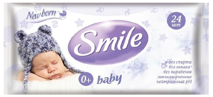 Smile Салфетки влажные New Born 24 шт.