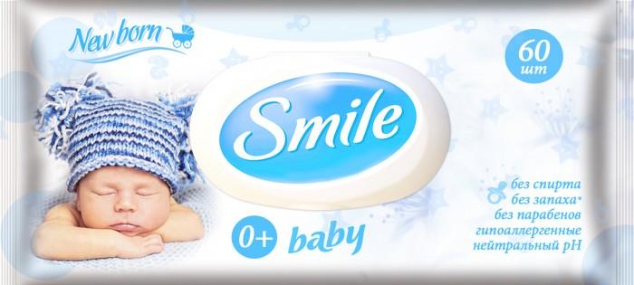 Smile Салфетки влажные New Born 60 шт.Салфетки влажные New Born 60 шт.Smile baby Салфетки влажные New Born 60 шт.  Создавая влажные салфетки Smile baby 60 шт. New Born с пластиковым клапаном, мы заботливо подобрали для них натуральные полезные экстракты.  Мягкая и прочная текстура салфеток Smile baby обеспечивает нежный уход за чувствительной кожей вашего ребенка. Экстракт алоэ успокаивает раздраженную кожу малыша Экстракт ромашки снимает воспаление. Клапан надежно защищает салфетки от высыхания и загрязнения. Удобный формат упаковки для использования салфеток дома.<br>
