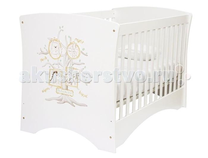 Детская кроватка HPA WinnieWinnieДетская кровать HPA Winnie &#932;he &#929;ooh&#65279; выполнена в классическом стиле из высококачественных материалов с ручной росписью.  В процессе создания и конструирования мебели HPA строго соблюдаются требования международных стандартов: закруглённые углы, высокие бортики, расстояния между рейками, плексиглас и т.д. Многофункциональность мебели позволяет ребёнку расти и развиваться в привычной для него обстановки до 8 лет. Кровать - трансформер при помощи снятия боковых стенок превращается в односпальную кровать.&#65279;&#65279;  Основные характеристики кроватки HPA: - сертификация в соответствии со стандартом EN 716-1,2:0,8, - в качестве материалов использовалась древесина бука и МДФ, - кроватка имеет резьбу и рисунки, выполненные вручную, - деревянные боковые решетки обеспечат малышу безопасность, - боковые панели легко снимаются, превращая кроватку в односпальную кровать для ребенка до 8 лет,  Особенности:  - Просторное спальное место – 140х74 см; - Боковые решетки стационарны (неподвижны) и покрыты плексигласом (оргстекло); - Расстояние между решетками – 6 см;  4 уровня матраса:  1 – 20 см от пола (высота решетки будет - 65 см) 2 – 30 см от пола (высота решетки будет - 55 см) 3 – 40 см от пола (высота решетки будет - 45 см) 4 – 50 см от пола (высота решетки будет - 35 см).   Со временем решетки заменяются на царги (рамы, соединяющие спинки кровати), таким образом, кроватка трансформируется в полноценную кровать для ребенка от 2-х до 8-ми лет;  Размер матраса (см): 140х74 – приобретается отдельно.  Информация для перевозки:  Кровать транспортируется в 2-х коробках (LxBxH): 1-я коробка (спинки) – 92х16х106 (см) 2-я коробка (решетки, основание, царги, крепления) – 143х11х79 (см).<br>