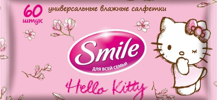 Smile Салфетки влажные Hello Kitty 60 шт.