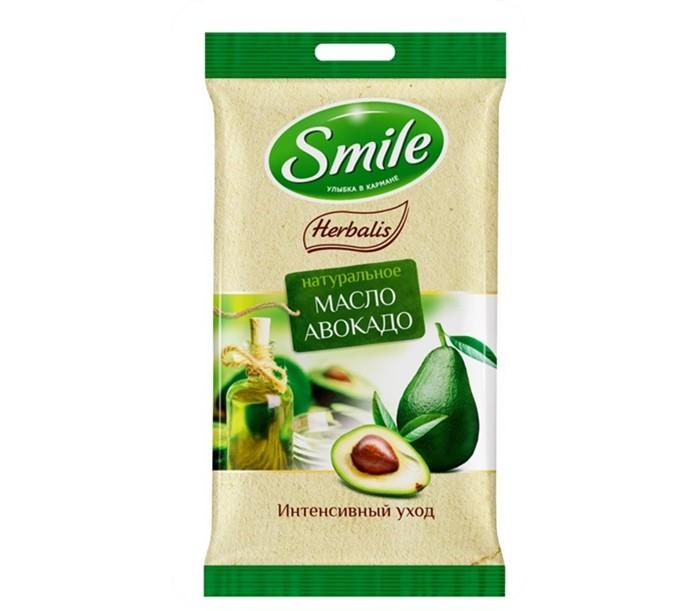 Smile Салфетки влажные Herbalis с маслом авокадо 10 шт.Салфетки влажные Herbalis с маслом авокадо 10 шт.Smile Салфетки влажные Herbalis с маслом авокадо 10 шт.– это гигиеническое очищение, которое обеспечивает питание и уход с помощью натуральных масел и кремовой основы.<br>