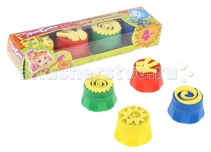 Genio Kids Набор Пальчиковые краски со штампиками 28х8х6 см