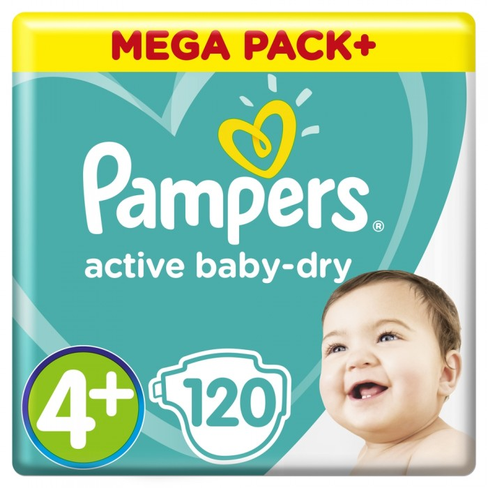 Pampers ���������� Active Baby Maxi Plus ���� �.4+ (9-16 ��) 120 ��.