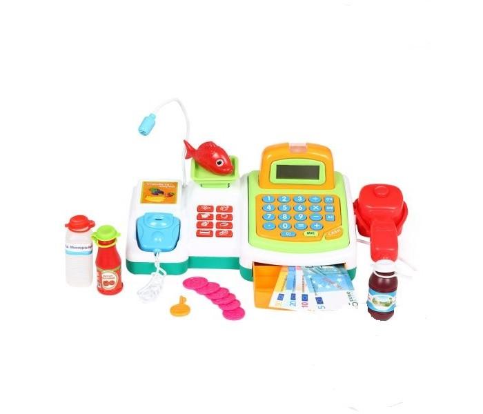 S+S Toys Касса в наборе с продуктами ES-FS-34541Касса в наборе с продуктами ES-FS-34541Детская касса станет незаменимым атрибутом при игре в магазин. Играя вместе с другими детками, ребенок может представлять себя то покупателем, то в роли кассира.  В набор входит касса, терминал для оплаты и корзинка с продуктами. Игрушка на батарейках со звуковыми эффектами!  Игра поможет малышам научиться считать деньги и приобрести навыки, которые пригодятся ему в дальнейшем.<br>