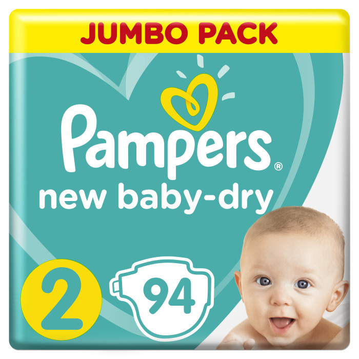 Pampers ���������� New Baby Dry Mini �.2 (3-6 ��) 94 ��.