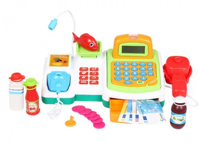 S+S Toys Касса в наборе с продуктами ES-FS-34545Касса в наборе с продуктами ES-FS-34545Детская касса станет незаменимым атрибутом при игре в магазин. Играя вместе с другими детками, ребенок может представлять себя то покупателем, то в роли кассира.  В набор входит касса, терминал для оплаты и корзинка с продуктами. Игрушка на батарейках со звуковыми эффектами!  Игра поможет малышам научиться считать деньги и приобрести навыки, которые пригодятся ему в дальнейшем.<br>