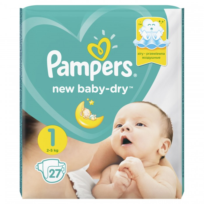 Pampers ���������� New Baby Dry �.1 (2-5 ��) 27 ��.