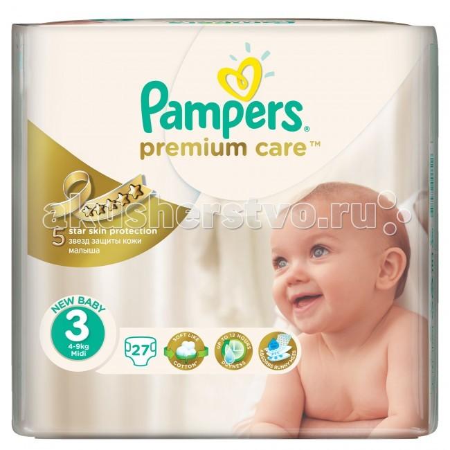 Pampers ���������� Premium Care Midi �.3 (4-9 ��) 27 ��.