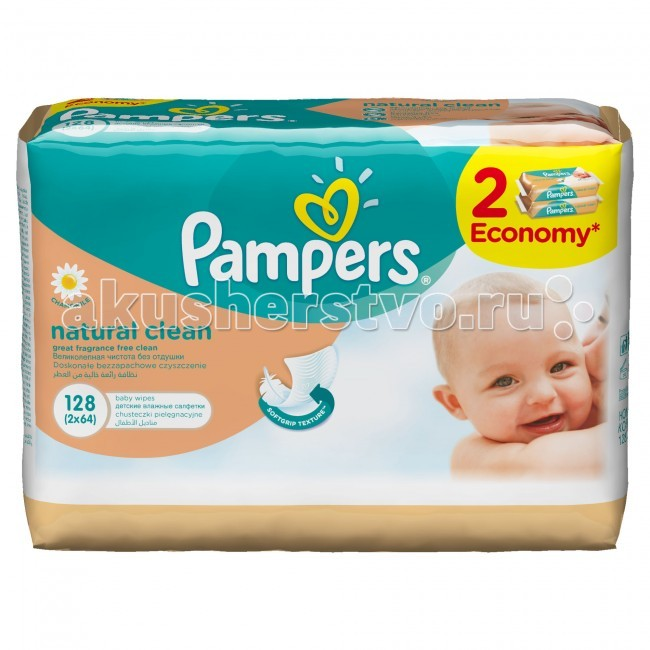Pampers �������� Naturally Clean �������� ���� 2�64 ��.