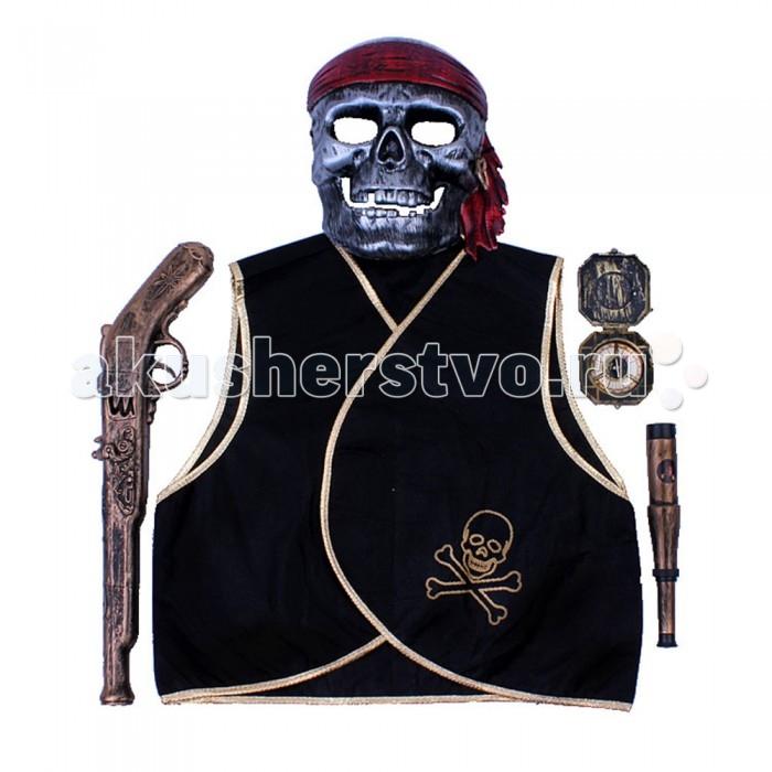 Игруша Набор игровой Пираты i-ZP3537Набор игровой Пираты i-ZP3537Игруша Набор игровой Пиратынесомненно понравится любителям приключений и авантюр. В наборе есть всё что бы почувствовать себя настоящим искателем приключений.   Костюм можно одеть на новогодний утренник, карнавал, а также на другие праздники.  В наборе: карнавальный костюм  маска жилет пистолет подзорная труба<br>