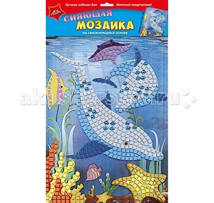 Апплика Самоклеящаяся сияющая мозаика из мягкого пластика ДельфинСамоклеящаяся сияющая мозаика из мягкого пластика ДельфинАпплика Самоклеящаяся сияющая мозаика из мягкого пластика Дельфин  Сияющая мозаика на самоклеящейся основе А4 из фольгинированного мягкого пластика ЭВА  Набор состоит из: пронумерованной цветной основы, цветной самоклеящейся мозаики из фольгинированного мягкого пластика, самоклеящихся элементов для декорирования.<br>
