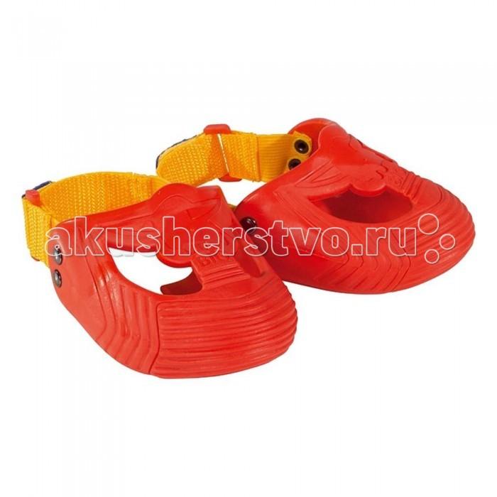 BIG Защита для обуви 6/48Защита для обуви 6/48Уникальная находка профессионалов из Германии - защитная обувь для катания на велосипеде, велобалансире, каталке или любом другом детском транспорте.  Наденьте эти мягкие латексно-резиновые насадки на обувь Вашего малыша и будьте спокойны - обувь под надежной защитой.  Защита предназначена для обуви с 21 по 28 размер, благодаря резинке на ремешке легко растягивается. Надевается легко, быстро и очень удобно.<br>